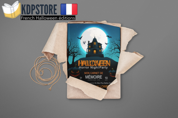 French Halloween Memory Book Graphic KDP Interiors By French Interior KDP