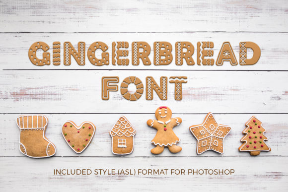 Print on Demand: Gingerbread Display Schriftarten von OWPictures