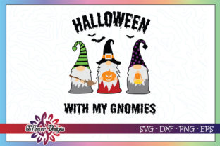 Halloween with My Gnomes Pumpkin Candy Graphic Crafts By ssflower