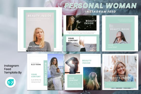 Instagram Feed Template - Personal Woman Graphic Presentation Templates By maju57creative