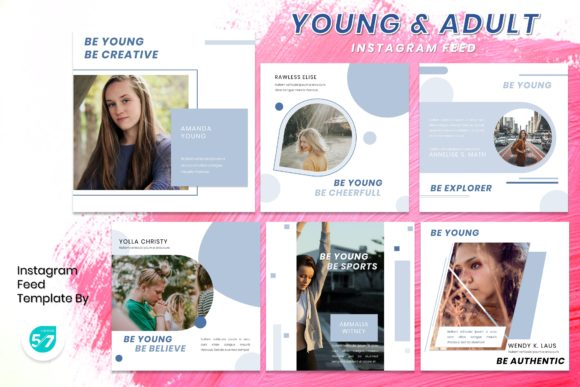 Instagram Feed Template - Young & Adult Graphic Presentation Templates By maju57creative