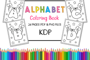 KDP Alphabet Coloring Book for Kids Graphic Coloring Pages & Books Kids By Miss Cherry Designs