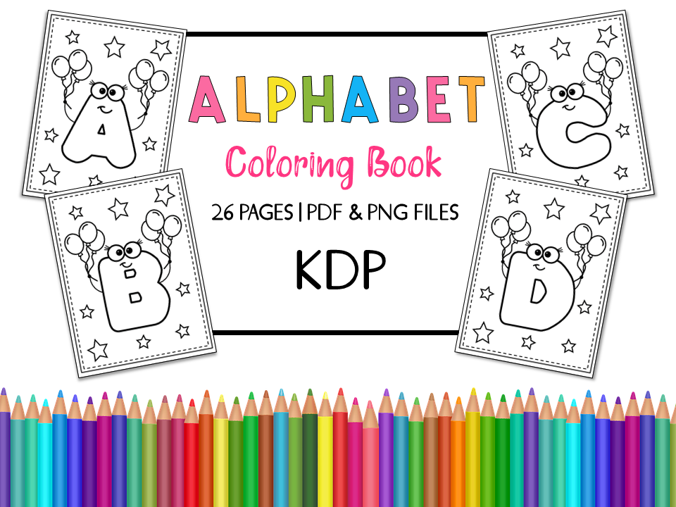 - KDP Alphabet Coloring Book For Kids (Graphic) By Miss Cherry Designs ·  Creative Fabrica