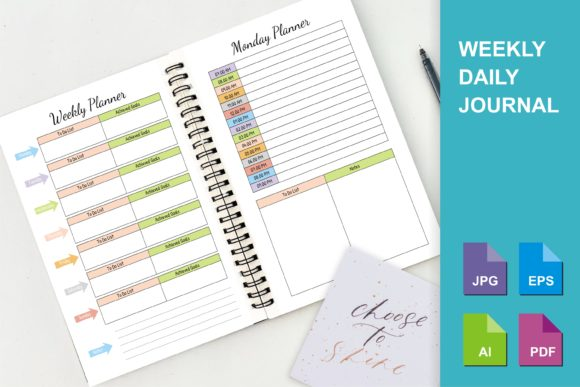 Print on Demand: KDP Weekly and Daily Planner Graphic KDP Interiors By edywiyonopp