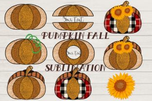 Print on Demand: Leopard Pumpkin with Plaid and Sunflower Graphic Illustrations By meisanmui