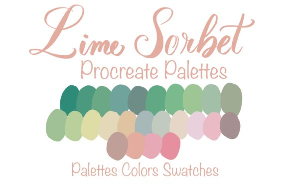 Lime Sorbet Colors Palettes Graphic Add-ons By PoyJazz