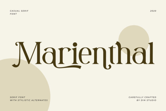 Print on Demand: Marienthal Serif Font By Din Studio