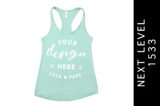 Mint Next Level 1533 Tank Top Mockup Graphic Product Mockups By lockandpage