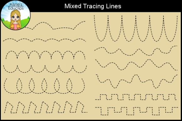 Print on Demand: Mixed Tracing Lines Graphic Teaching Materials By Aisne Educlips