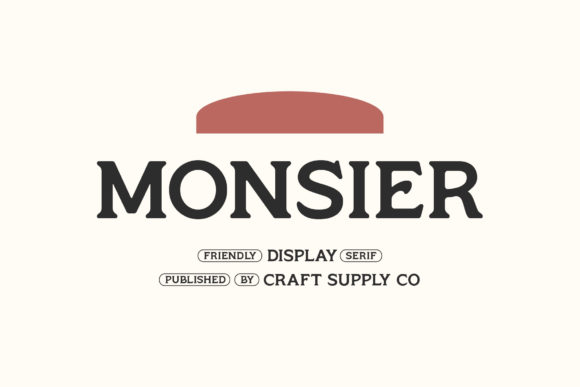 Print on Demand: Monsier Serif Font By craftsupplyco - Image 1