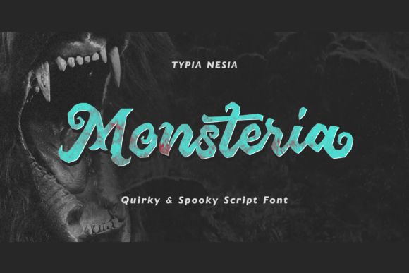 Print on Demand: Monsteria Display Font By Typia Nesia