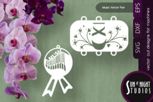 Music and Ballet Vector Pair Graphic Crafts By Sun At Night Studios