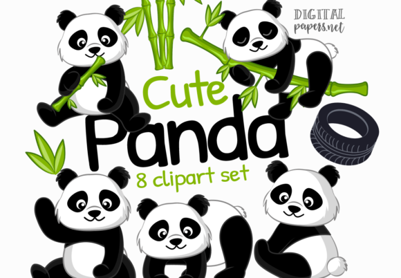 Print on Demand: Panda Graphics Graphic Illustrations By DigitalPapers