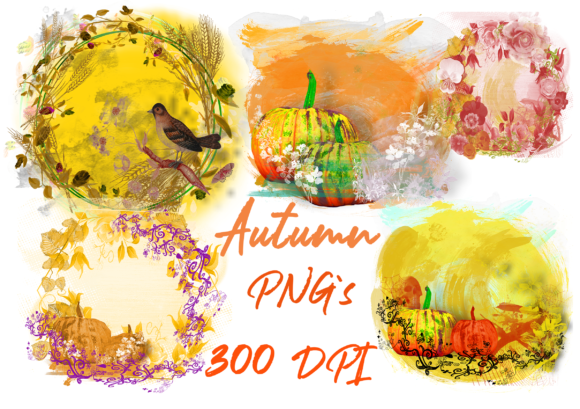Print on Demand: Pumpkin Paint Splash Autumn Season. Graphic Graphic Templates By Anna Tarach