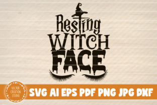 Print on Demand: Resting Witch Face Halloween Sign Graphic Crafts By VectorCreationStudio