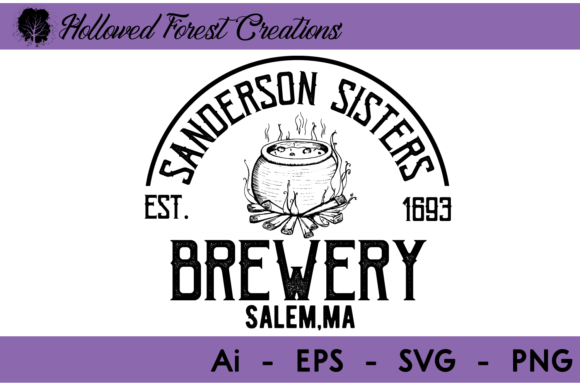 Sanderson Sister's Brewery Graphic Illustrations By hollowedforestcreations