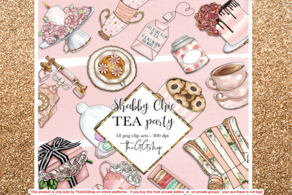 Print on Demand: Shabby Chic Tea Party Collection Graphic Illustrations By TheGGShop