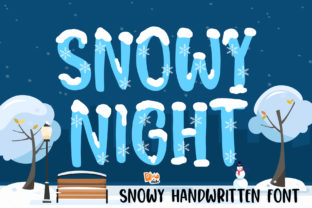 Print on Demand: Snowy Night Display Font By dmletter31 1