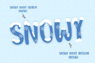 Print on Demand: Snowy Night Display Font By dmletter31 2