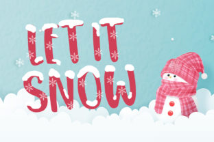 Print on Demand: Snowy Night Display Font By dmletter31 6