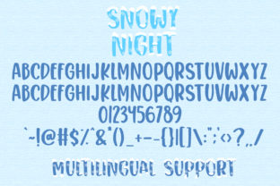 Print on Demand: Snowy Night Display Font By dmletter31 7