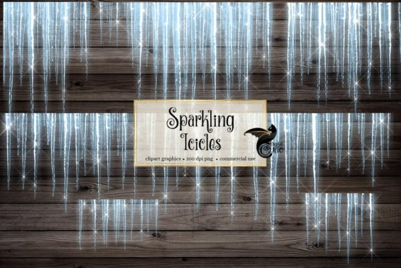 Sparkling Icicles Clipart Graphic