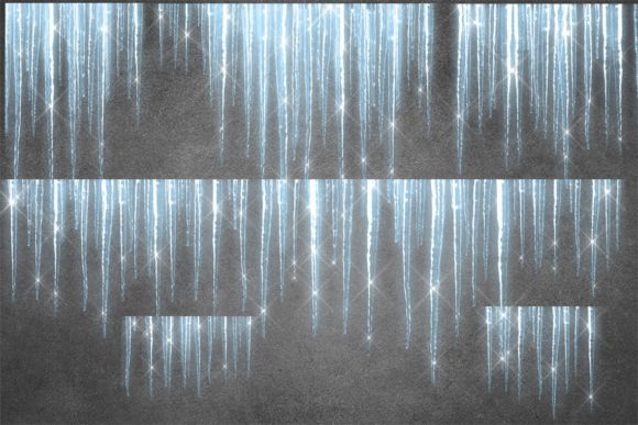 Sparkling Icicles Clipart Graphic Download
