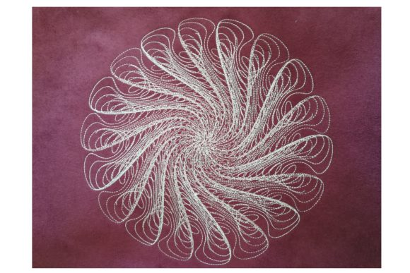 Spiral Fantasy House & Home Embroidery Design By Carol Undy - Image 1