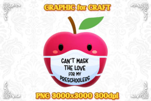 Print on Demand: Sublimation Can't Mask Love Preschoolers Graphic Print Templates By numnim