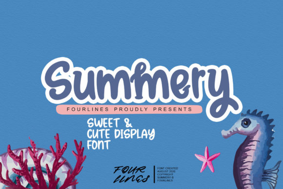 Print on Demand: Summery Display Font By Fourlines.design