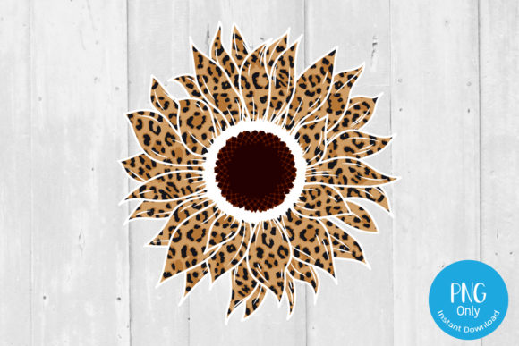 Print on Demand: Sunflower Leopard for Sublimation Graphic Print Templates By Tori Designs