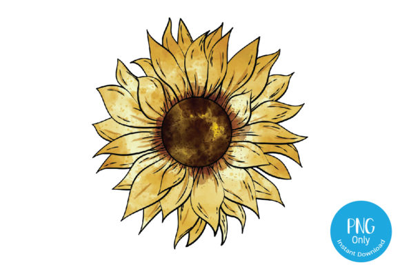 Print on Demand: Sunflower Sublimation Graphic Print Templates By Tori Designs