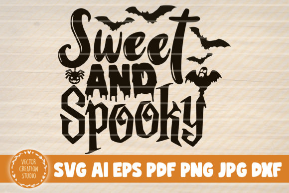 Print on Demand: Sweet and Spooky Halloween Sign Graphic Crafts By VectorCreationStudio