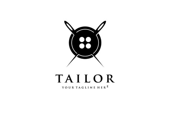 Tailor Shop Logo Buttons Sewing Needle Graphic Logos By sore88