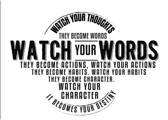 Print on Demand: Watch Your Thoughts; They Become Words Graphic Illustrations By baraeiji