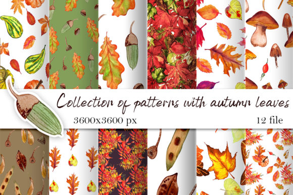 Print on Demand: Watercolor Autumn Digital Paper Graphic Illustrations By ElenaZlataArt