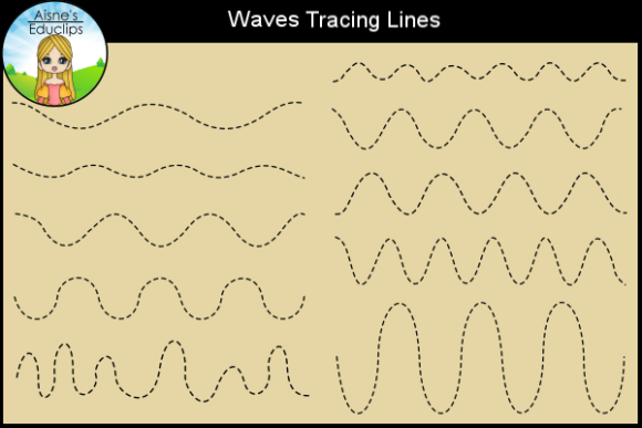 Print on Demand: Waves Tracing Lines Graphic Teaching Materials By Aisne Educlips