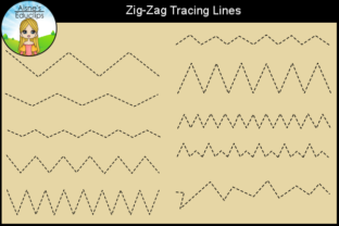 Print on Demand: Zig-Zag Tracing Lines Graphic Teaching Materials By Aisne Educlips