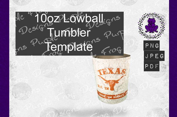 10oz Lowball Tumbler, 10oz Template Graphic Graphic Templates By Heather Terry