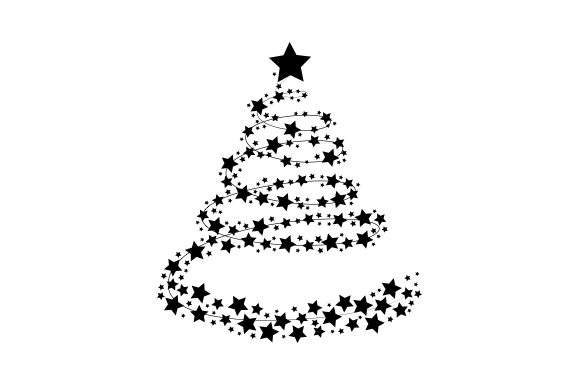 Christmas Tree of Stars Christmas Craft Cut File By Creative Fabrica Crafts - Image 2