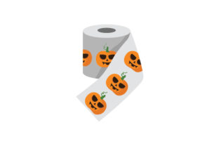 Halloween Toilet Paper Mockup Halloween Craft Cut File By Creative Fabrica Crafts