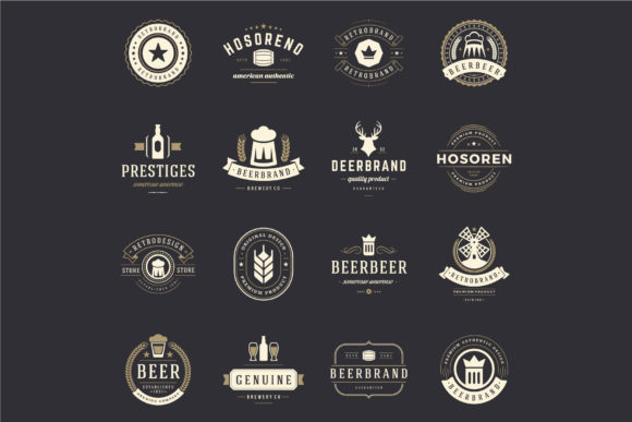 45 Beer Logotypes and Badges Graphic Item