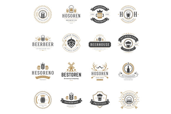 45 Beer Logotypes and Badges Graphic Design