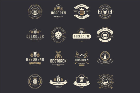 45 Beer Logotypes and Badges Graphic Preview