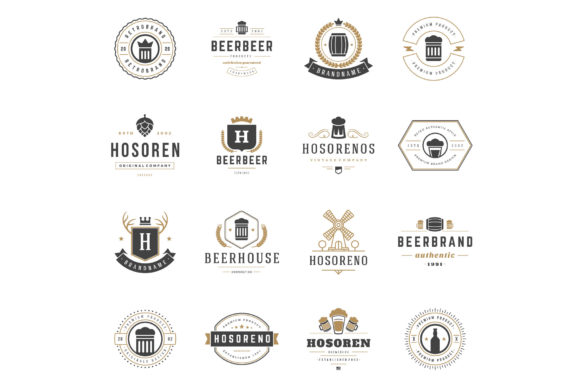 45 Beer Logotypes and Badges Graphic Image