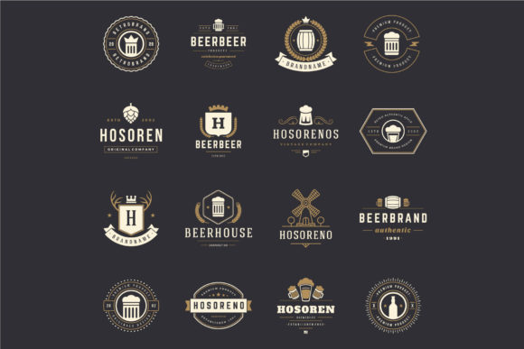 45 Beer Logotypes and Badges Graphic Design Item