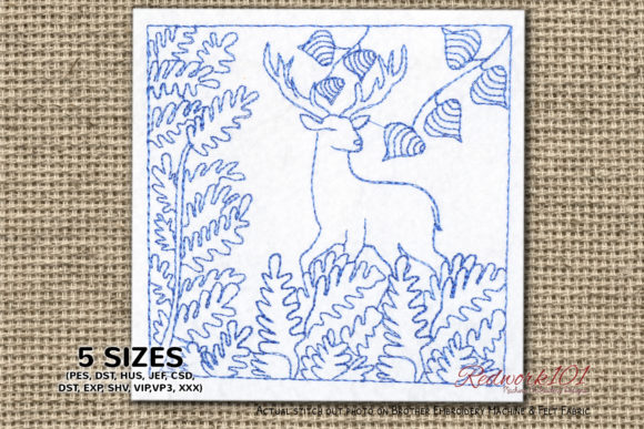Abstract Deer Design Lineart Design Paisley Embroidery Design By Redwork101