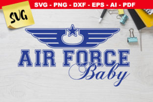 Print on Demand: Air Force Baby Star Wings Graphic Crafts By Novart