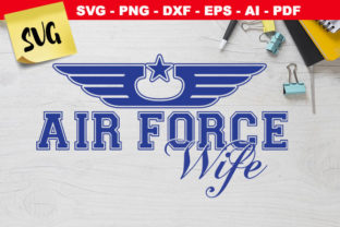 Print on Demand: Air Force Wife Star Wings Graphic Crafts By Novart