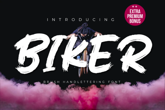 Print on Demand: Biker Display Font By Productype